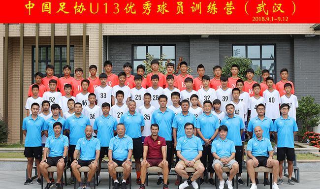 中国足协U13结束第四期集训