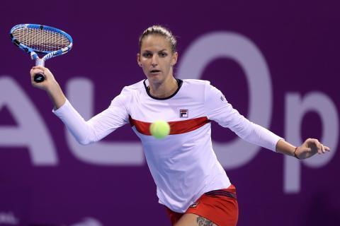 普利斯科娃在比赛中