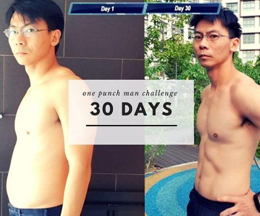 男子效仿漫画人物健身 30天后的身材让网友怀疑....