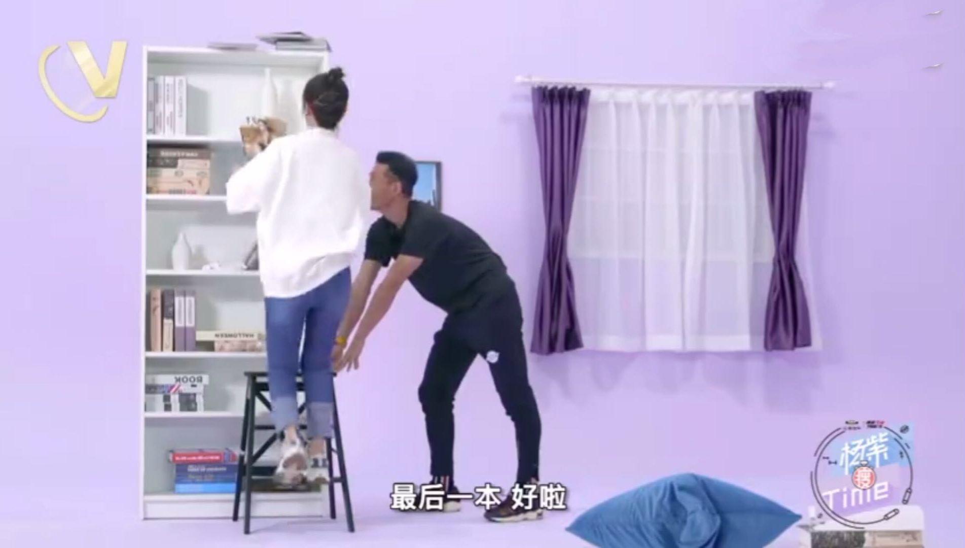 杨紫的教练这么温柔她以后的男朋友可能会有压力