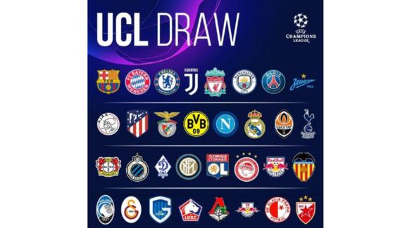 欧冠小组赛抽签前瞻 英超西甲大战成最大看点