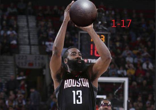 17投1中还能追平科比!哈登终于成了联盟第1人 NBA新闻 第13张