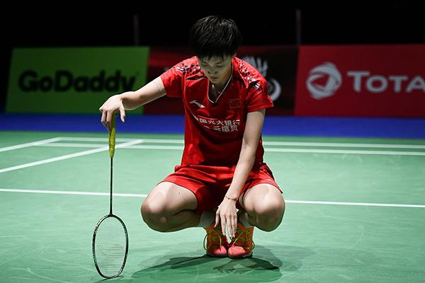 2019瑞士羽毛球世锦赛女单半决赛:辛杜2-0陈雨菲。