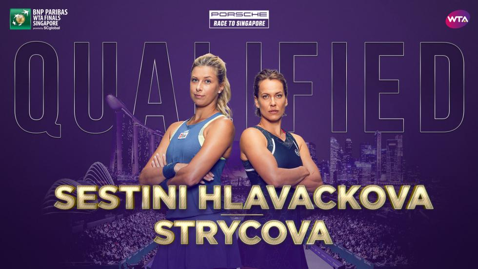 两对组合入围WTA年终总决赛 刚在武