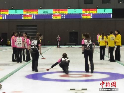 哈尔滨女四队在比赛中。邢蕊 摄