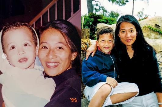赞德・谢奥菲勒(Xander Schauffele)和母亲陈秉彝   (图片来源:PGA Tour)