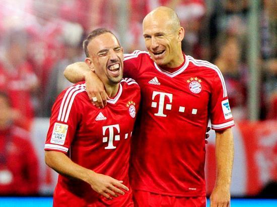 法尔克称拜仁已经决定续约里贝里和罗本到2019年