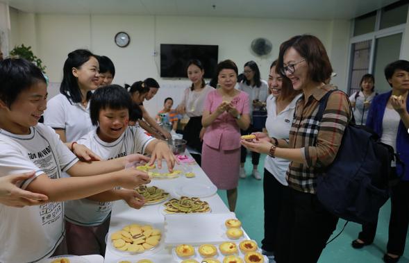 ope国际广西举行儿童福利机构媒体开放日活动