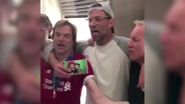 欧冠赛后,克洛普高唱讽刺皇马的歌曲