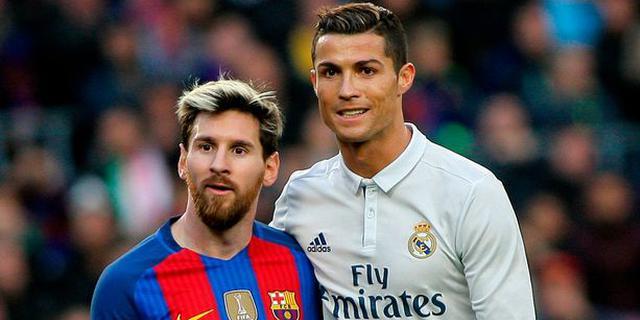 近年来,C罗(右)在欧冠关键比赛上的数据比梅西强出许多