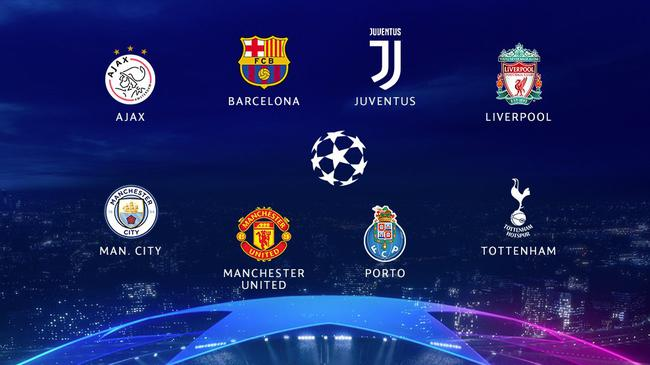 欧冠8强全部产生