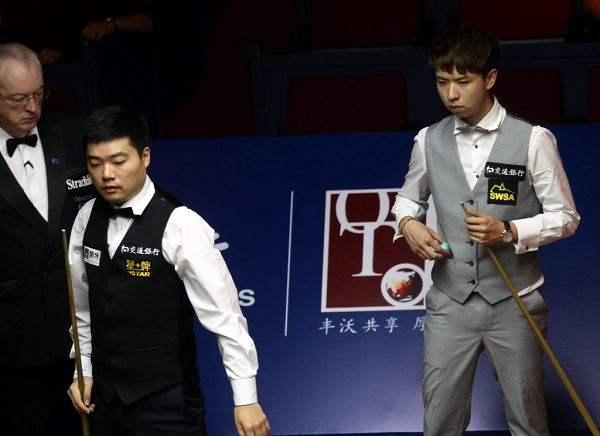 丁俊晖的5冠赛季,曾在上海大师赛决赛战胜过肖国栋