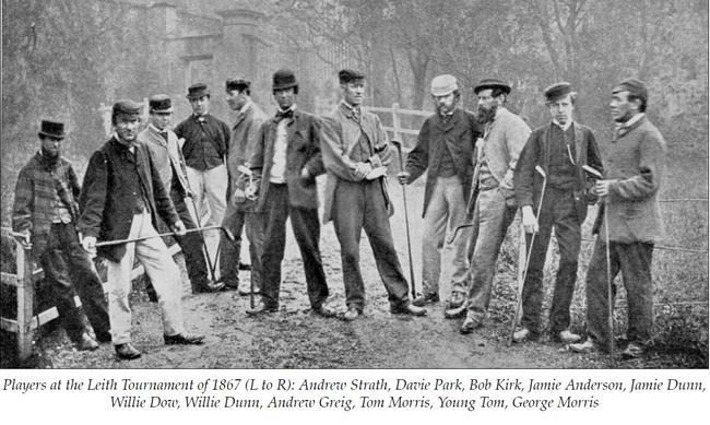 1867年参加利斯比赛的威利・邓恩(右5)和双胞胎弟弟杰米(左5)