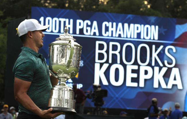 科普卡今年赢得了美国公开赛和PGA锦标赛冠军
