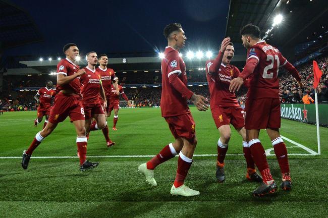 利物浦半只脚踏入欧冠四强