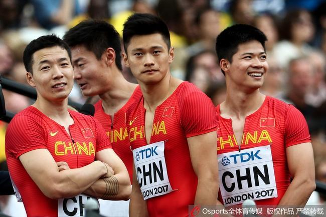 中国接力队吴智强是第一棒