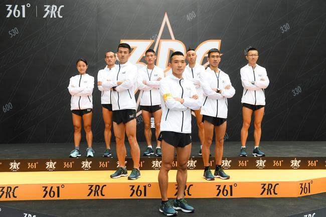 361°正式启动星跑者计划,361°跑步代言人李子成(中间)将带领其他星跑者跑出势力