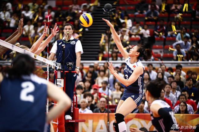 中国女排战胜美国