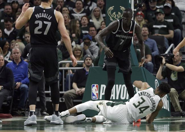 庄神怒推字母哥直接被驱逐3节没打完输了43分 NBA新闻 第1张