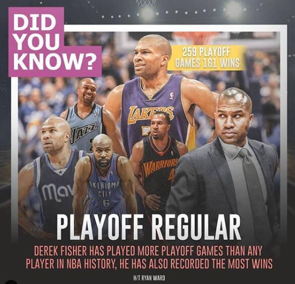 季后赛总出场数以及总胜场数最多的,是他! NBA新闻
