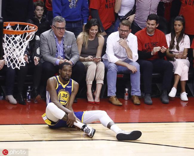 勇士认为杜兰特右跟腱撕裂明日MRI将确诊 NBA新闻