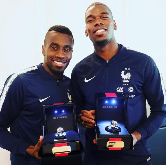 壕气!博格巴造世界杯冠军戒指 法国队每人送一个