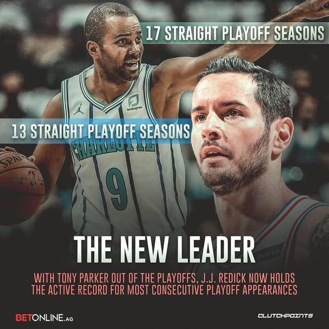 [浪]连续进季后赛最长的球员换了!这本该是詹姆斯 NBA新闻