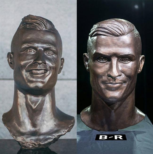 C罗新雕像(右边)