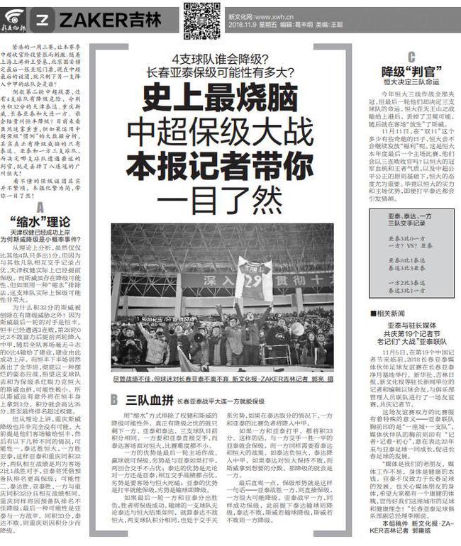 长春媒体集体施压恒大:斗志松懈 请像国安般公正