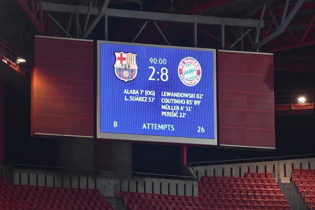 巴萨造欧冠62年头号耻辱 梅西职业生涯最惨失利