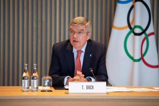 国际奥委会主席巴赫。新华社发(国际奥委会供图)