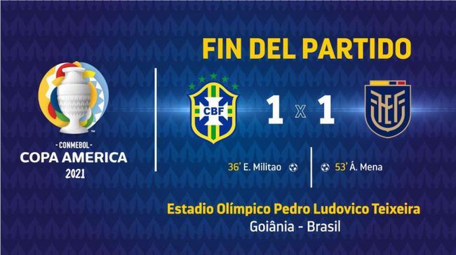 巴西战平厄瓜多尔