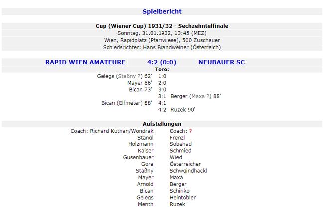 虽然是预备队,但参加的奥地利杯是正式的杯赛